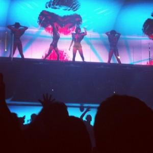 Calvin Hakkasan dancers