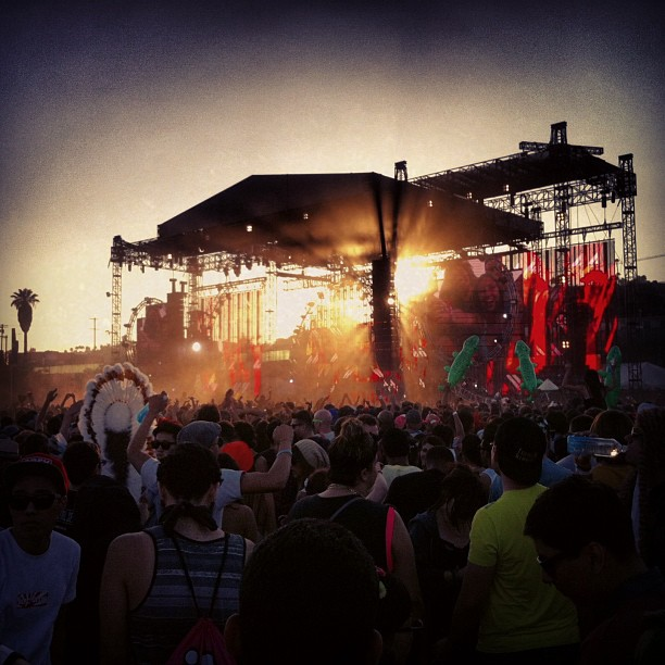 Hard Summer stage at sunset