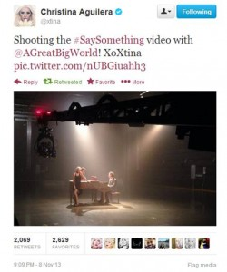 "Tweeted Preview Of ""Say Something"" Music Video"