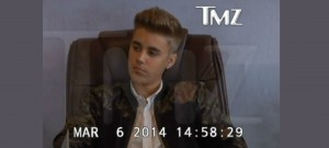 Image From Justin Bieber's Deposition Video via TMZ