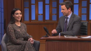 Kim Kardashian on Nbc's Late Night With Seth Meyers