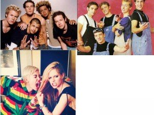 O-Town/N Sync/Miley Cyrus With Avril Lavigne Via Instagram