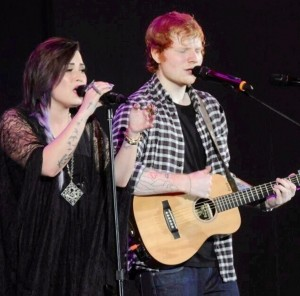 Demi and Ed photo courtesy of @lovatics_lb