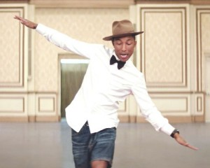"Pharrell Williams Via ""Happy"" music video Columbia Records"