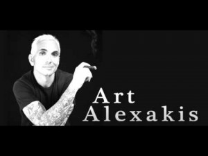 Art Alexakis solo banner name and cigar