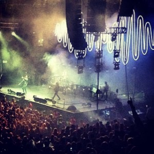 Arctic Monkeys stage from seats