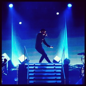 Justin blue stage