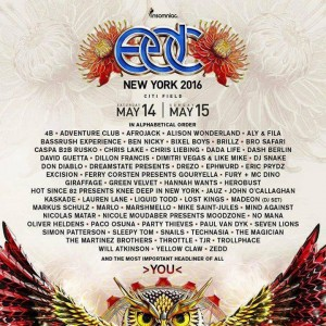 EDC NEW YORK MAY 14 and 15 2016