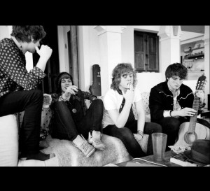 The Struts hanging out on couch